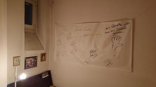 Buchausstellung Stadtbibliothek - Wanddekoration