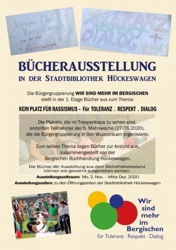 Plakat der Buchausstellung in der Stadtbibliothek